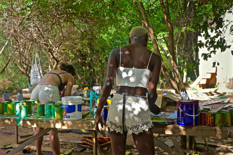 Artists & Installations at Beneath the Baobabs, Kilifi, East Africa