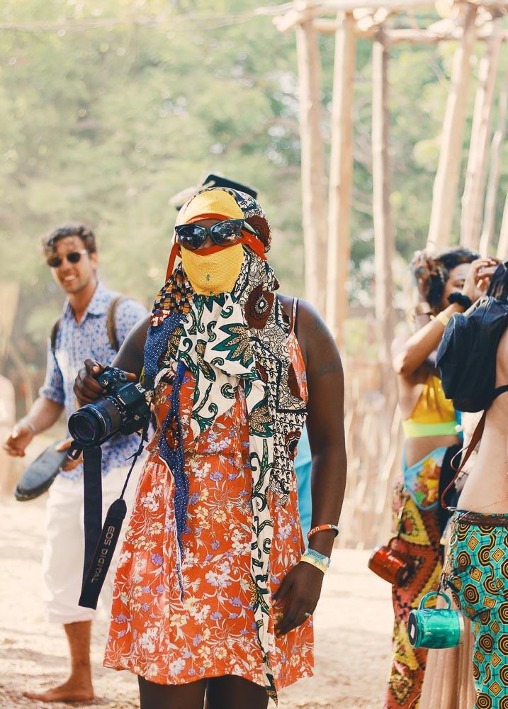Party Goers at Beneath the Baobabs Festival, Kilifi, Kenya