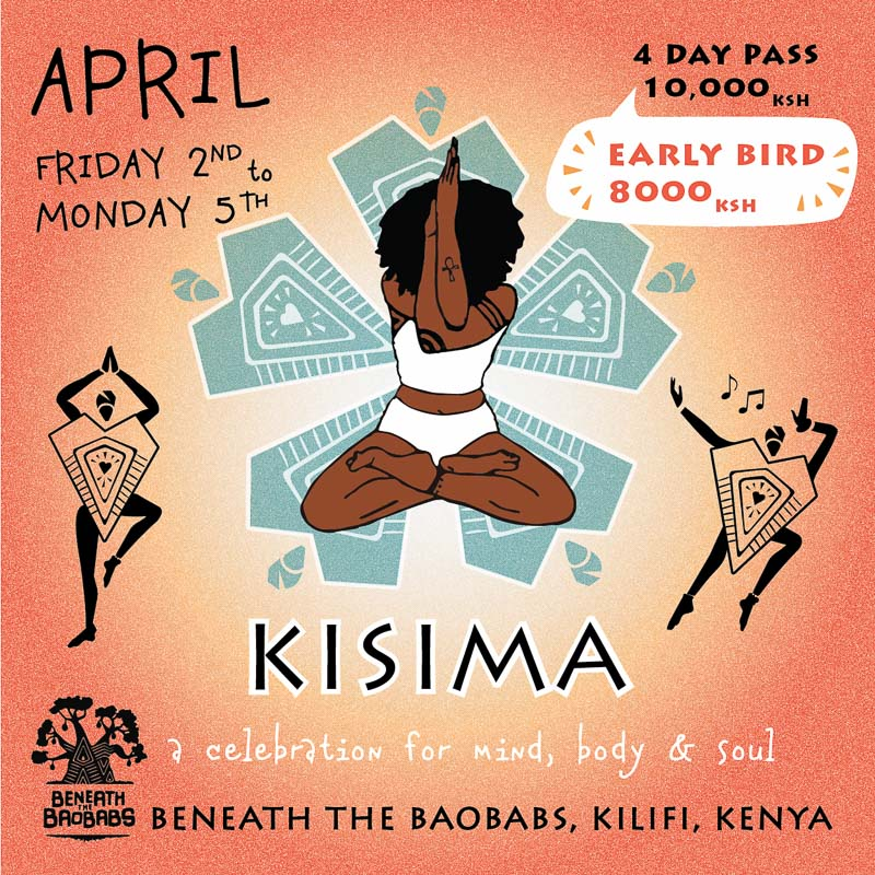 Kisima Festival Poster Easter 2021 at Beneath the Baobabs