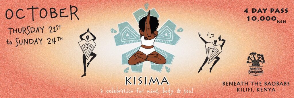 Kisima Festival Poster October 2021 at Beneath the Baobabs